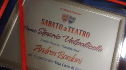 "Premio caratterista ""Sabato a Teatro"" 2019/20"