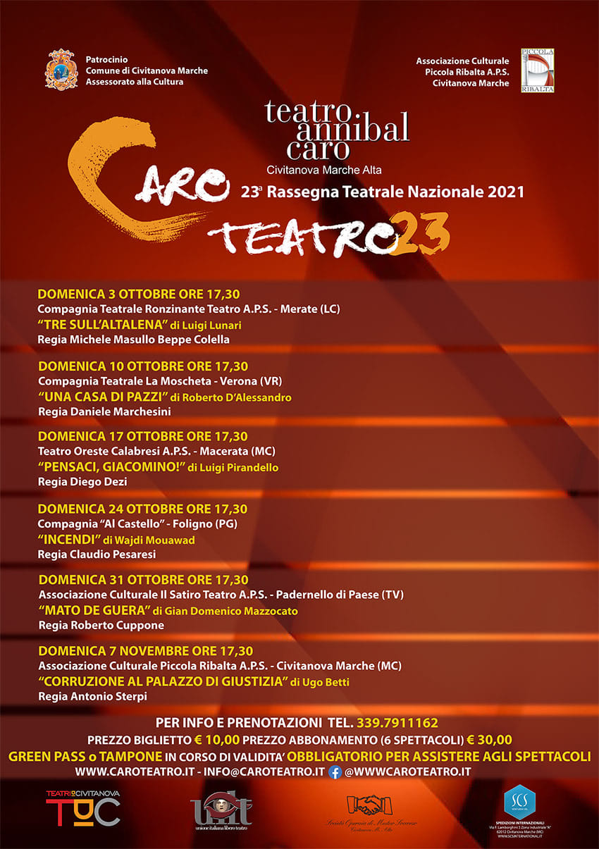 Rassegna nazionale Caro Teatro 2021
